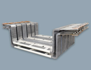 Lead lined steel anode