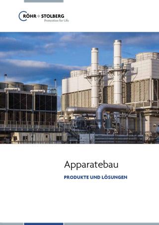 Broschüre zum Apparatebau von Röhr + Stolberg zum Download