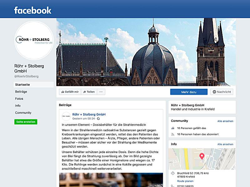 Röhr + Stolberg auf Facebook
